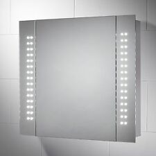 KINSLEY LED BATTERY POWERED ILLUMINATED BATHROOM CABINET W:650 X H:600