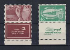 ISRAEL 1952  2nd Independence day  Con TAB  Yv 29/30  . MNH  LUJO Cat 825 €