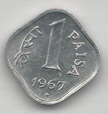 INDIA, REPUBLIC,1967(B), (BOMBAY), PAISA, ALUMINUM, KM#10.1, CH. BU.