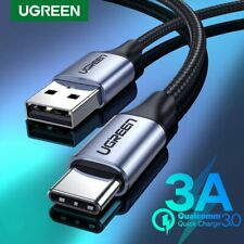Ugreen USB Type C Cable 3A USB C Fast Charging Data Cable Fr Samsung S9 S8 LG G7