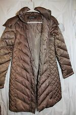 Women's small brown Kenneth Cole Reaction Coat w/ fur