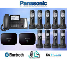 PANASONIC KX-TG9582B 2-LINE LINK2CELL 1 CORDED PHONE 9 CORDLESS 2 REPEATERS
