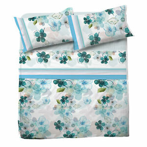 Set Bed Pompea Freedom Sheets Above Under with Corners Pillowcase Blue