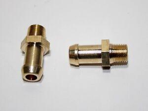 """2x Embouts laiton 10mm pompe gavage Facet 40104 40106 40107 1/8"""" NPT v2"""