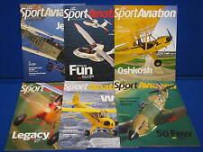 Sport Aviation Magazine Lot EAA Bahamas Oshkosh 2014 2015 Jenny Planes Flying ++