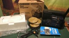 Chinon 2500GL Dual Super 8 Regular 8mm Cine Projector W/ Box/Movies New Bulb.