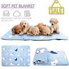 Warm Fleece Pet Mat Blanket Dog Cat 100x75cm Comfortable Soft Blue Bed Mat