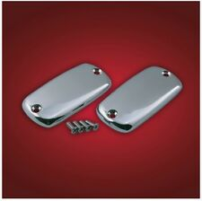 Honda VTX1800 C F N R S & T - smooth CHROME Master Cylinder CAPS/LIDS (pair)