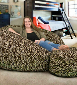 without Beans 1 Pc Luxurious Fully Furry Velvet Bean Bag Cover Sitting Sofa