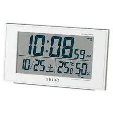 Seiko Japan Alarm Clock with Thermometer Temperature BC402W White
