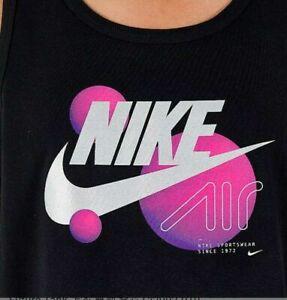 new NIKE AIR RETRO FUTURE TANK TOP MENS XXL BLACK/PINK/SILVER CI2992-010