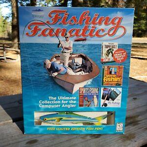 Mindscape Big Box Fishing Fanatic PC Simulation Lessons Games Huge Bundle +Bonus