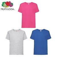 Kids Plain T Shirts fruit of The Loom Children's Youth Boys Girls