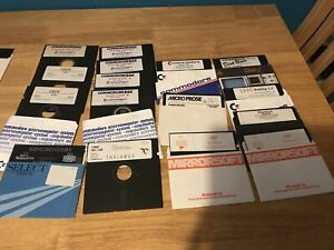 Vintage 16 5.25in floppy disks. Geos High Flyer Future Finance Hawkeye