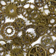 20pcs Bronze Watch Parts Steampunk Cyberpunnk Cogs Gears DIY Jewelry Craft HM