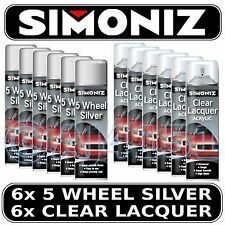 12 Simoniz Spray Paint 6x Wheel Silver 6x Clear Lacquer