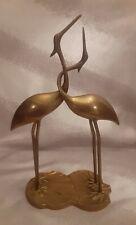 Vintage Brass Heron/Crane Love Birds Korea Figurine