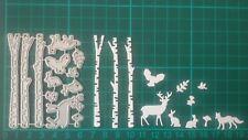 Stanzschablonen Weihnachten - Waldscene 2 -