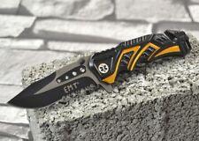 Mtech USA Einhandmesser Klappmesser Federunterstützung Schwarz Gelb MT-A865EMY