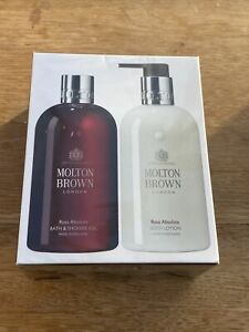NEW Molton Brown Rosa Absolute Shower Gel & Body Lotion Set  RRP £48