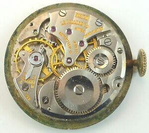 LeCoultre 480 / CW Wristwatch Movement - Good Balance - Sold for Parts / Repair