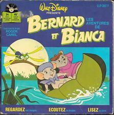 LIVRE DISQUE--WALT DISNEY--LES AVENTURES DE BERNARD ET BIANCA--ROGER CAREL