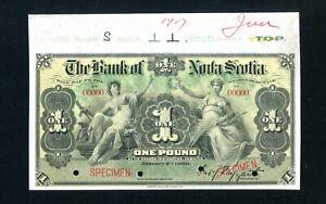 Jamaica S131a Specimen 1 Pound 1900, Choice Uncirculated, 99c NO RESERVE