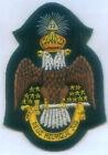 Masonic Mason Freemasonry Symbol 33 Degree Eagle Bullion Patch Grand Lodge Rite
