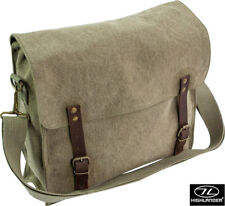 Fintry Canvas Satchel - 10l Mens Ladies Military Army Rucksack Backpack Daysack Olive