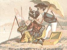 1880's PROVIDENCE RI FURNITURE CO.TRADE CARD, at BROAD ST NEAR MATHEWSON   TTC59