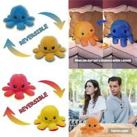 Octopus Doll Emotional Face Changing double-sided Flip Octopus Plush Toys Doll