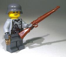 Brickarms Kar98 Rifle for Lego Minifigures (5 Pack) Brown
