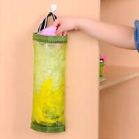 Kitchen Plastic Grocery Bags Organizer Round Holder Wall Mount Storage Dispenser