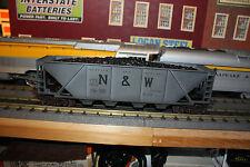 Lionel O gauge 3 hopper cars 4 bays W/coal load NIB # 19326,327,328 N & W 6446