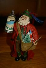 Kurt Adler Fabric Mache Santa Ornament Bavarian Old World German Beer Stein KSA