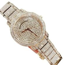 Michael Kors Women's Rose Gold Stainless Steel Pave Glitz Watch MK6548 $350 + tx