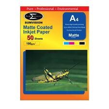 SUMVISION 180g carta fotografica A4 Premium Matt stampante a getto d'inchiostro (50 fogli)