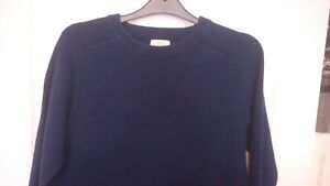 PREOWNED MENS LOVELY NEXT ROUND NECK NAVY 100% COTTON JUMPER SIZE SMALL EX COND