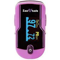 Zacurate 500E Purple Fingertip Pulse Oximeter Heart Rate Meter O2 Reader Monitor