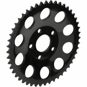 """49-Tooth .46"""" Dished Black Rear Wheel Chain Sprocket - Harley FXR Big Twin XL"""