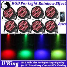 8X RGB 36 LED Par Light Bühnenlicht DJ Disco Club DMX Show Vollfarbe Beleuchtung