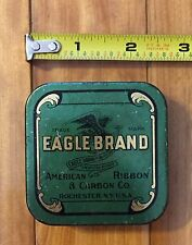 Vintage EAGLE Brand American Ribbon & Carbon Co Typewriter Advertising Tin
