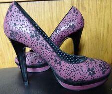 Killah Pink Heart Heels Size 6