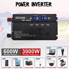 3000W Power Inverter DC 12V to AC 220V Sine Wave Converter Invertor Electronic
