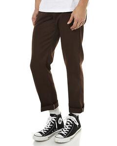 Dickies Slim Straight Fit Work Pants Chocolate WP873 Skateboard Bmx Jeans