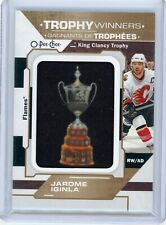 JAROME IGINLA - 20/21 O-PEE-CHEE KING CLANCY TROPHY MANUFACTURED PATCH P3