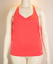 Trina Turk Recreation Bright Coral Tank Top Size XL Racerback $68 NWTs Workout