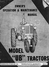 Minneapolis Moline Ub Owner Operator Maintenance Manual