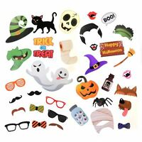 35pc Halloween Photo Booth Selfie Props Trick Or Treat Party Game Favors Decor