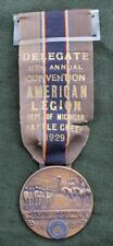 1929 American Legion 11th Annual Convention Medal * Battle Creek, MI